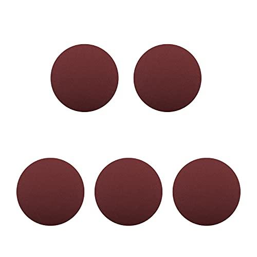 Auniwaig 8 inch 100 Sandpaper Sanding Discs NO-Hole PSA 100 Grit Sandpaper Aluminum Oxide Random Orbital Sander Pads for Metal,Non-Metal,Leather,Rubber,Plastic, 5pcs Reddish