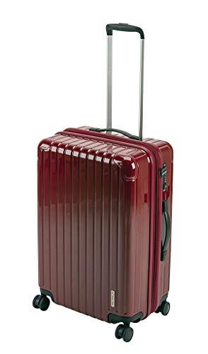 キャプテンスタッグ(CAPTAIN STAG) スーツケース キャリーケース キャリーバッグ 超軽量 TSAロック ダブルホイール 360度回転 静音 ダブルファスナータイプ Mサイズ ベリー パルティール UV-74