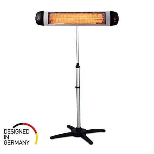 SUNTEC Infrarot-Heizstrahler mit Fernbedienung | Heat Carbon Wärmestrahler für Terrasse | Outdoor Terrassenheizer für Balkon, Garten Infrarotstrahler Strahlwasser-Schutz (Heat Ray 3000 Carbon)