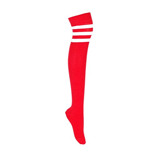 adam & eesa 1 oder 3 Paare Damen Frauen Overknee Cosplay Oberschenkel hoch farbig 3 gestreifte Kniestrümpfe Socken in Multi Farben Socken Größe EUR 37-39