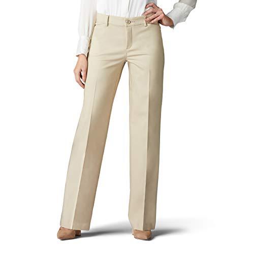 Lee Women s Flex Motion Regular Fit Trouser Pant, Bungalow Khaki, 14