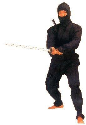 S.B.J - Sportland Ninja Anzug schwarz, Gr. 160 cm