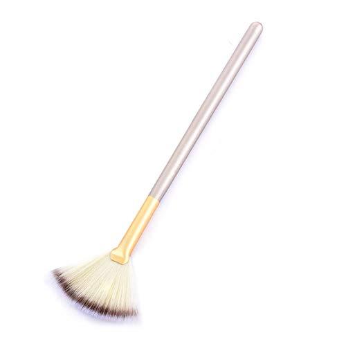 LZJE Brosses Maquillage Doux Grand Fan Brush Foundation Blush Blush Poudre Surligneur Brosse Poudre Brosses Cosmétique, NB316