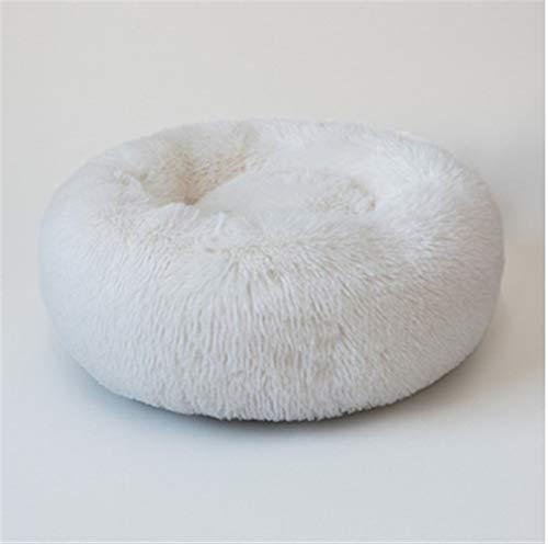 FENXIMEI Huisdier, zacht en lang pluche kattenbed, rond huisdierbed voor kleine honden, winter, warm slaapbed, 8 kleuren 40cm 5