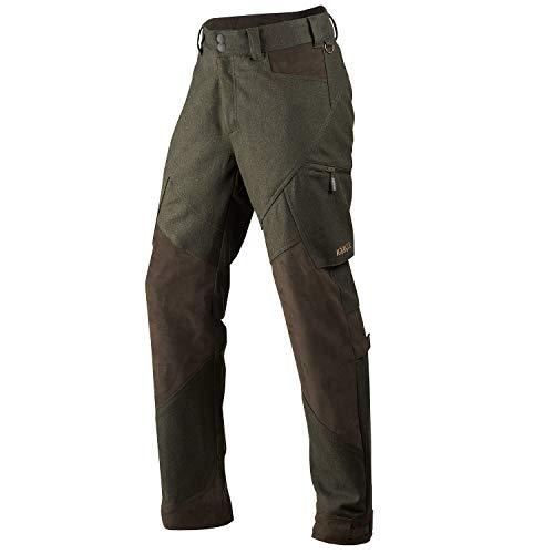 Härkila leise Jagdhose für Herren Metso Active Willow Green mit Cordura® Schneefang - Atmungsaktive Lodenhose mit Bionic Finish®, Größe:48
