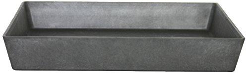 Artstone - Untersetzer für Blumen & Pflanzen in Schwarz, Größe Ø 34 x H 5 cm