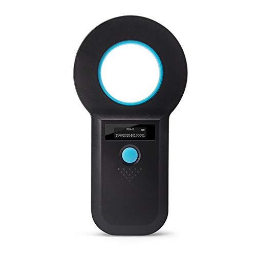 Kecheer Lector de chips de animales RFID,Lector de microchip para mascotas, Escáner de identificacion perros,para EMID,FDX-B (ISO11784/85)