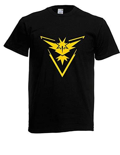 T-Shirt - Team Instinct Pokemon Go Tee Zapdos (Schwarz, L)