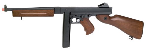 Soft Air Thompson M1A1 Electric Powered Airsoft Gun with Adjustable Hop-Up, 320-365 FPS