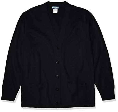 Classroom School Uniforms Men's Adult Unisex Cardigan Sweater, Black, Large