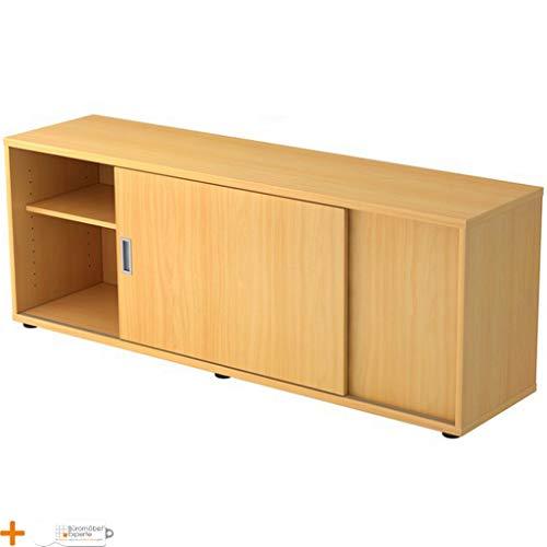 Bureaumeubel expert sideboard kantoorkast archiefkast 1 ordnerhoogte handvat houten deuren 2 planken beuken