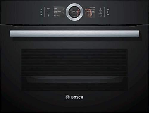 Bosch CSG656RB7 Serie 8 Einbau-Kompaktdampfbackofen / A+ / 47 L / Schwarz / Klapptür / TFT-Display / 14 Beheizungsarten / Bosch Assist / EcoClean Direct Plus / PerfectBake / PerfectRoast /Home Connect
