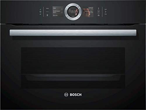 Bosch CSG656RB7 Serie 8 Einbau-Kompaktdampfbackofen / A+ / 47 L / Schwarz / Klapptür / TFT-Display / 14 Beheizungsarten / Bosch Assist / EcoClean Direct Plus / PerfectBake / PerfectRoast /Home Connect