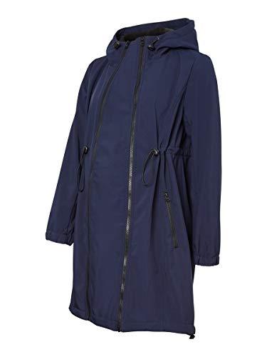 MAMALICIOUS Mlshella 3in1tikka Softshell Jacket Noos Chaqueta Premama, Azul (Navy Blazer Navy Blazer), 40 (Talla del Fabricante: Medium) para Mujer
