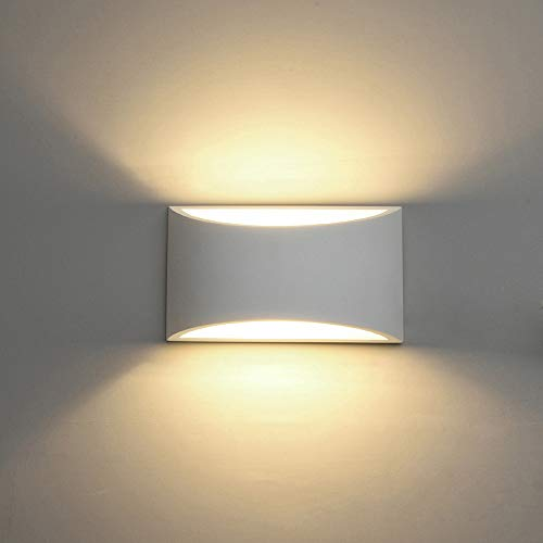 LED Wandleuchten Gips Wandleuchte Leuchte oben nach unten dekorative Wandbeleuchtung Indoor mit 7W L Licht G9 Kappe Typ Nachtleuchte für Wohnzimmer Schlafzimmer Halle Treppenaufgang (warmweiß)