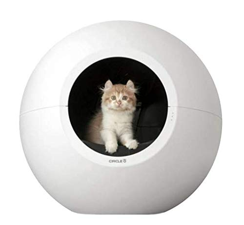 Circle Zero Self-Cleaning Litter Box - Automatic Premium Scooping - Futuristic Round Design - Easy Settings and Buttons