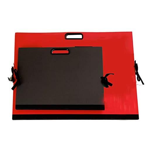 Cartella portadisegni - con maniglia - 35x50 cm - nero - Brefiocart