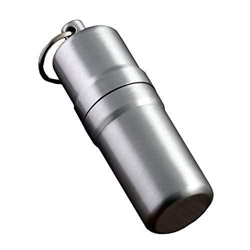 YXZN Metall Zigarettenetui Zylinder tragbar mit Schürze Dichtung wasserdichte Männer im Freien Zigarettenschachtel kann 10 Zigaretten halten, 10X3CM