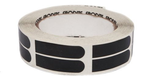 Ebonite Ultra Grip Bowler-Klebeband, 500 Stück, Schwarz, 1,9 cm