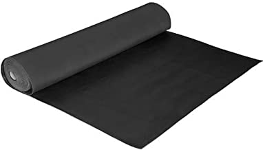 Stuurrubber glad 3 mm 10 m 130 cm zwart Maurer D