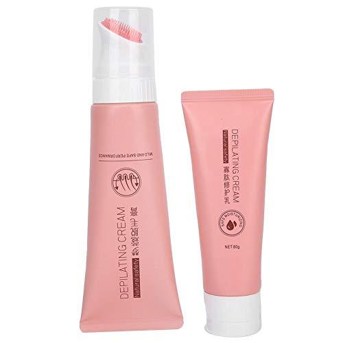 dgtrhted Suave Crema de eliminación de Pelo de la Piel Corporal Crema depilatoria oligopéptido Repair Cream Set