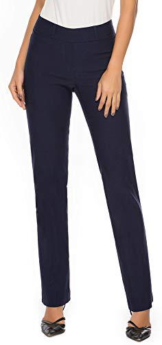 iChosy Women's Pull On Barely Bootcut Stretch Dress Pants (X-Small x 29