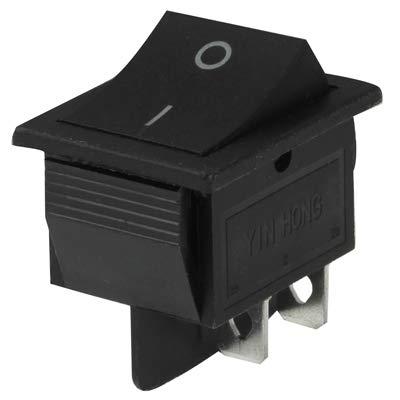 GUPENG Interruptores de botón eléctricos para automóviles DIY-ON Off Interruptor basculante for Racing Sport (5pcs)