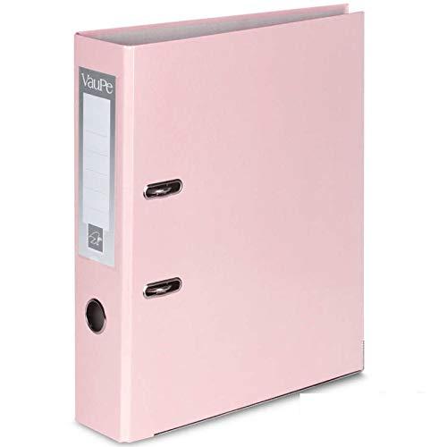 Carpetas archivadoras tipo palanca en arco, con borde de metal, portadas de papel, lotes de 1, 5o 10unidades, tamaño A4, 75 mm de grosor, para el colegio o la oficina, color 1 x Pastel Pink
