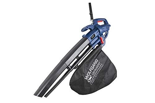 WOLFGANG 3 in 1 Bladblazer, Elektrische Tuinblazer, Shredder en Vacuüm, 35 Liter Zak, Gesnoerde Bladblazer, Lichtgewicht en Ergonomisch