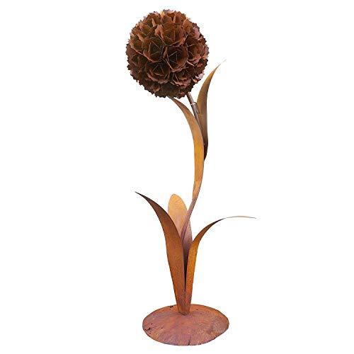 fleur env. 130 cm en métal, en rouille Noble OPTIQUE, edelrost déco pour jardin et maison pissenlit fleurs