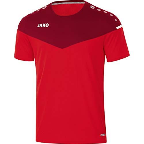 JAKO Herren T-shirt Champ 2.0, rot/weinrot, XXL, 6120