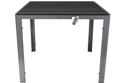 Kynast Aluminium Gartentisch 90 x 90 cm Anthrazit-Silber