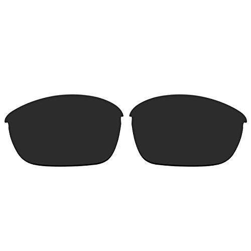 Acompatible Ersatzgläser für Oakley Half Jacket 2.0 Sonnenbrille OO9144, Black - Polarized, S