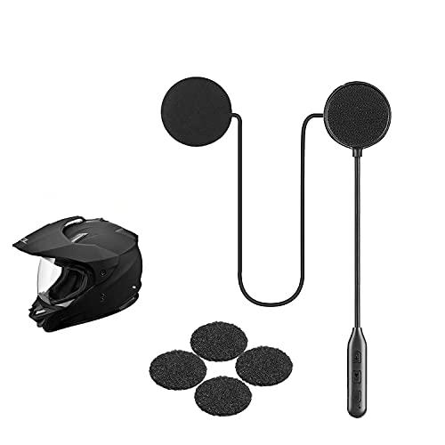 Auriculares para casco de moto, Bluetooth 5.0, inalámbricos, comunicación, resistente al agua, viento, exteriores, GPS, control llamadas música, ciclismo, esquí