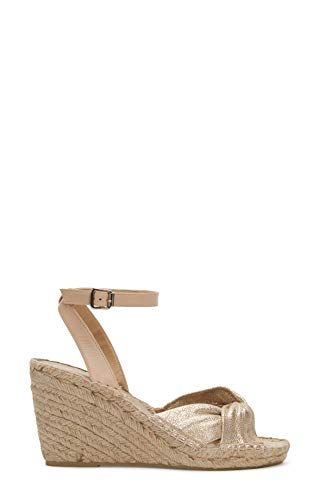 Etienne Aigner Vanna - Leather Espadrille Wedge In Cappuccino