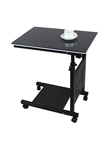 Creative Simple Ordinateur Portable Table Pliante Lit Bord de Table d'apprentissage Poulie Facile à déplacer (Taille : L*W*H:60 * 40*-(62-90) cm, Style : A)