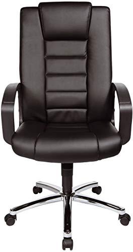 Topstar 7809D60 Chefsessel Comfort Point 10, Bezugsstoff Kunstleder, Stahlfußkreuz, schwarz