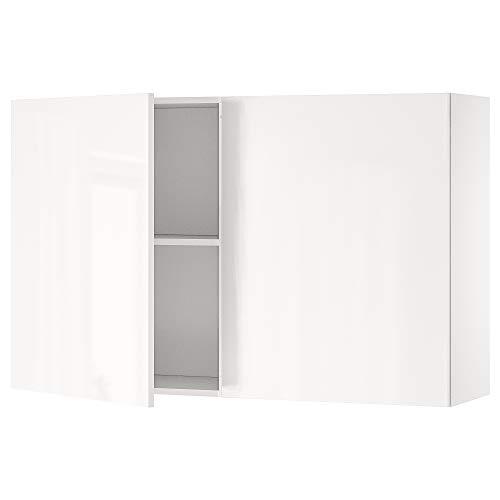 KNOXHULT armario de pared con puertas 120x31x75 cm blanco brillante