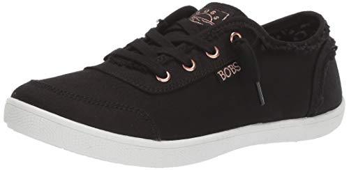 Skechers BOBS Women's Bobs B Cute Sneaker, Black, 6.5 M US