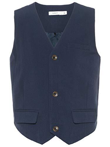 NAME IT Jungen Anzugweste NKMINGEMANN Waistcoat NOOS, Blau (Dark Sapphire), (Herstellergröße: 128)