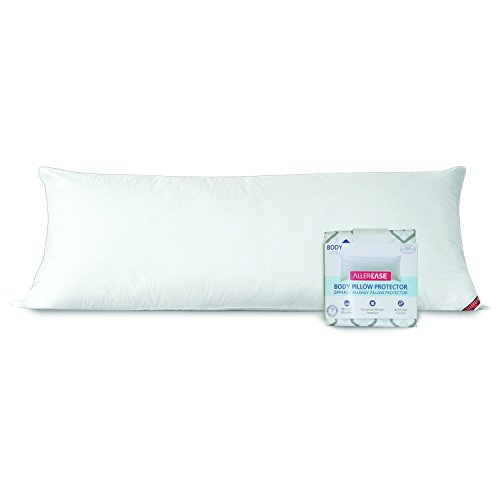 AllerEase 100% Cotton Allergy Protection Body Pillow with...