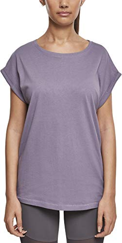 Urban Classics Ladies Extended Shoulder tee Camiseta, Morado (Dusty Purple 02249), S para Mujer