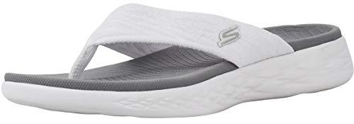 Skechers Women's On-The-go 600-Sunny White Flip-Flop 6 M US