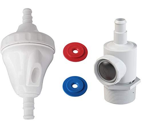 Poweka G52 Válvula Kit de Repuesto Compatible con Robot Limpiafondos Piscina Polaris 180 280 380 con 9-100-9001 Conjunto de Conector