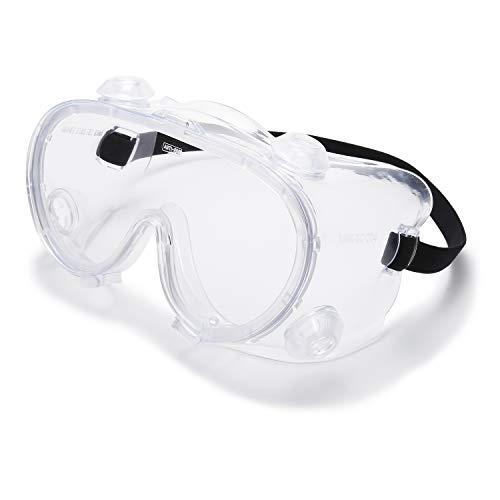 Vanlinker Safety Goggles over Glasses Anti Fog Scratch Lab Goggles Vented VL9525