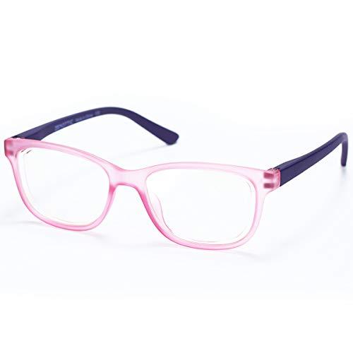 ZENOTTIC Occhiali Anti Luce Blu Bambini per Computer Lenti Antiriflesso Leggero Protezione degli Occhi Occhiali da Gioco per Ragazzo e Ragazze (ROSA)