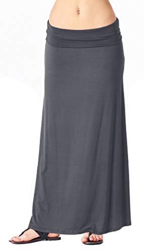 Popana Womens Long Maxi Skirt Casual Convertible Sundress Plus Size Made in USA Slate 2X