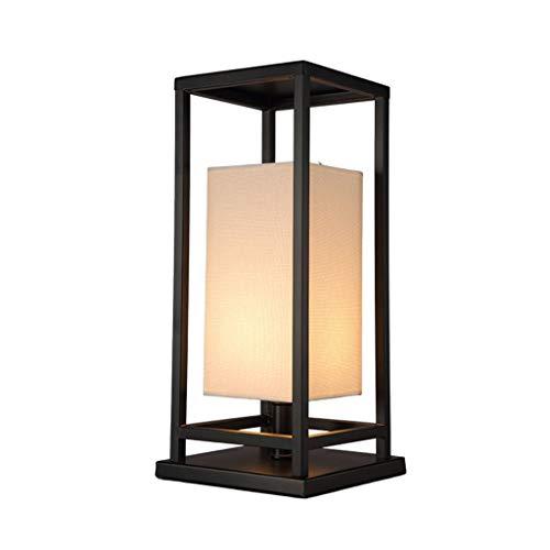 Lampes de table Chambre À Coucher Chevet Créative Chaude Mode Rétro Simple Petite Salon Étude Lampe De Chevet (Color : Black, Size : 25 * 25 * 50cm)