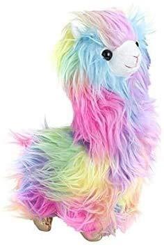 Archile Neue Kinder 27cm Plüsch Cuddly Funky Lama mit Pastell Regenbogen Kind Soft Toy Teddy