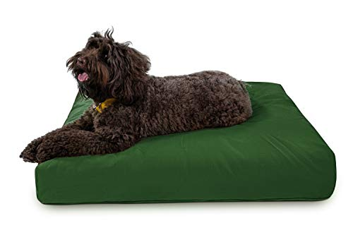 K9 Ballistics Tough Rectangle Nesting Large Dog Bed- Washable, Durable and Waterproof Dog Bed - Made for Big Dogs, 34'x40', Green